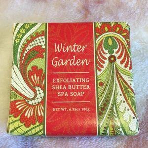 Winter Garden Exfoliating Shea Butter Soap NWT